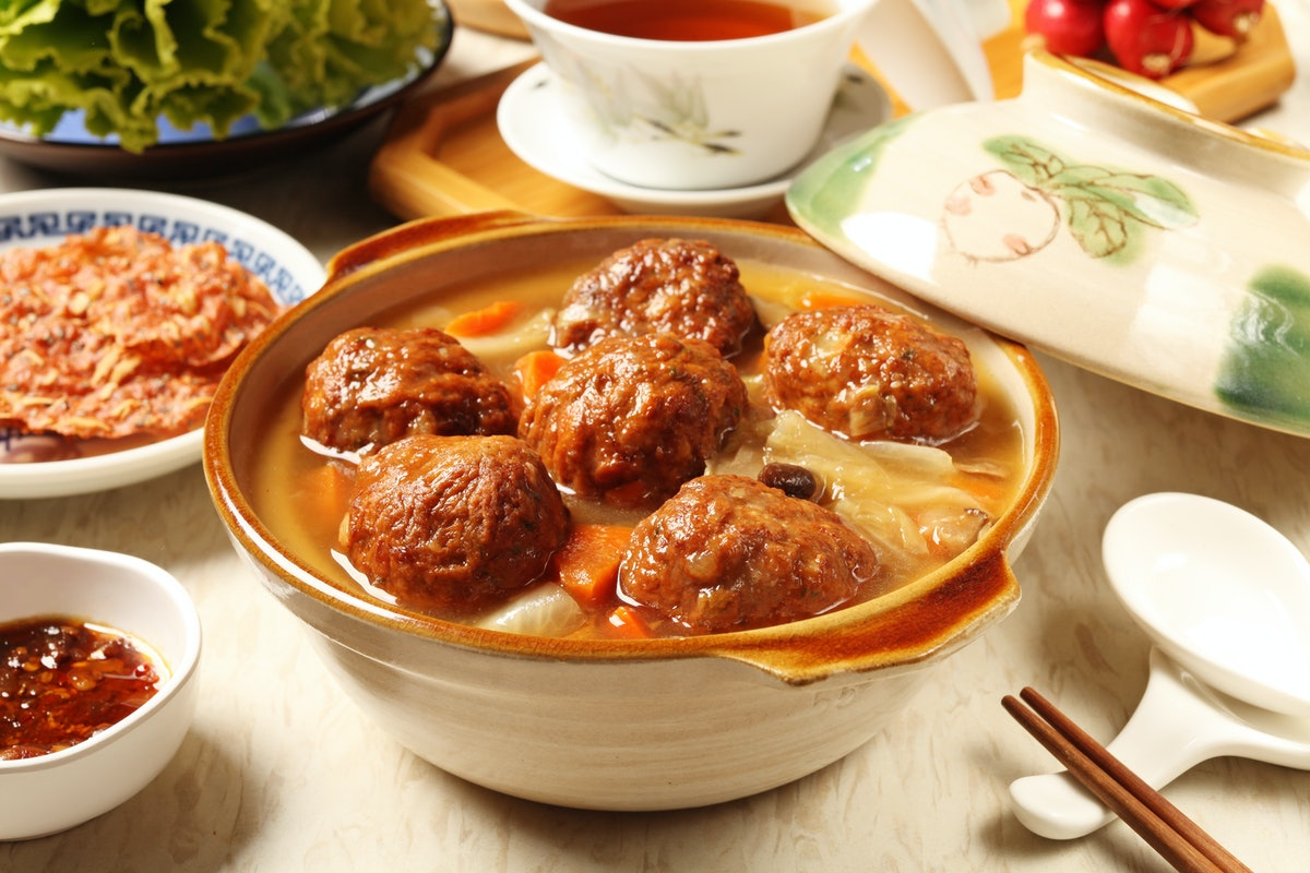 Chinese meatballs lunar new year