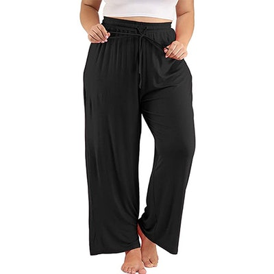 Allegrace Plus Size Drawstring Sleep Pants