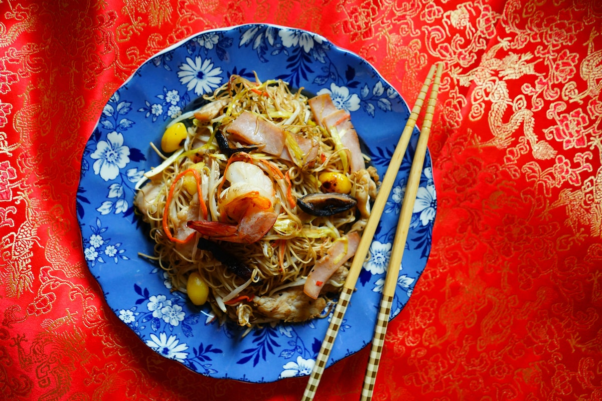noodles lunar new year dishes