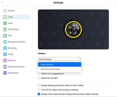 You can apply filters on your next Zoom call in your settings on Zoom.