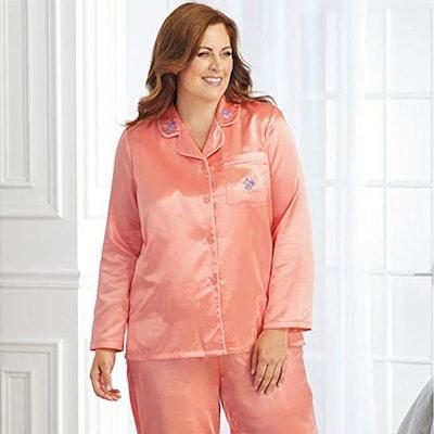 AmeriMark Satin Pajama Set