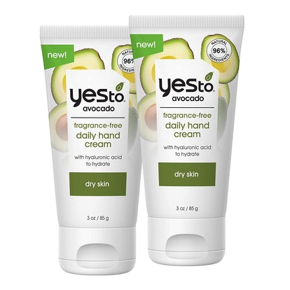 Yes to Avocado Fragrance-Free Daily Hand Cream (2-Pack)