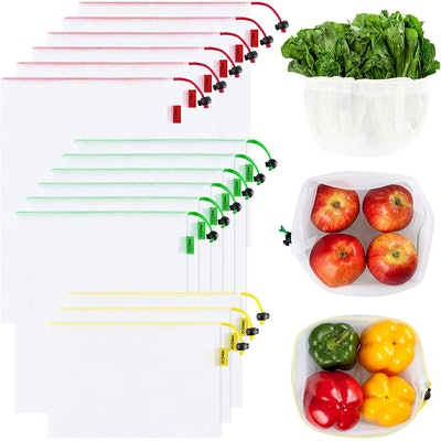Ecowaare Reusuable Mesh Produce Bags (15-Pack)