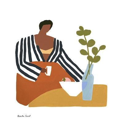 Peaches & Coffee Print