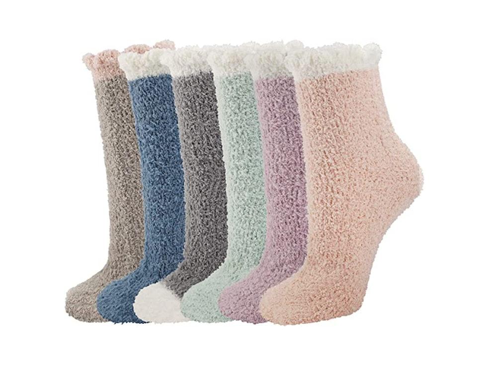 Horalah Fuzzy Slipper Socks (6 Pairs)