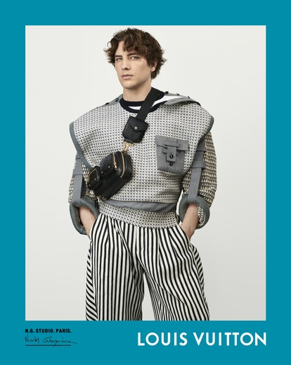 Cody Fern stars in Louis Vuitton's spring/summer 2021 campaign.