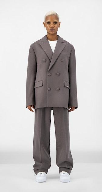 Grey Eheck Blazer
