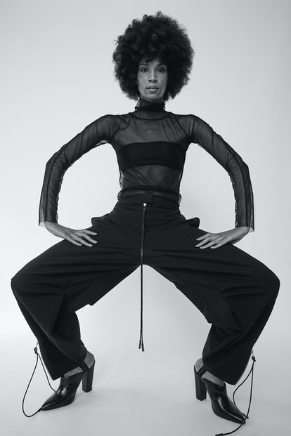 Model wearing clothing from Nicole Benfield's portfolio.