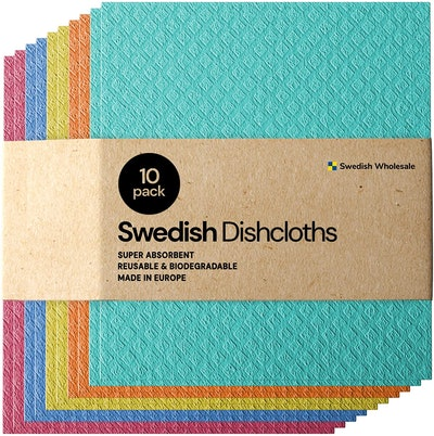 Swedish Wholesale Absorbent Dishcloths (10-Pack)