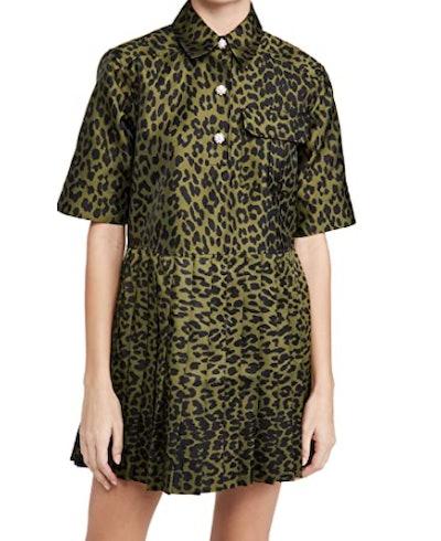 Ganni Crispy Jacquard Dress