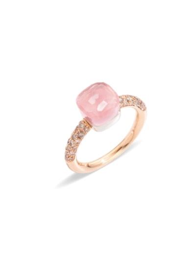 Rose Quartz Nudo Petit Ring