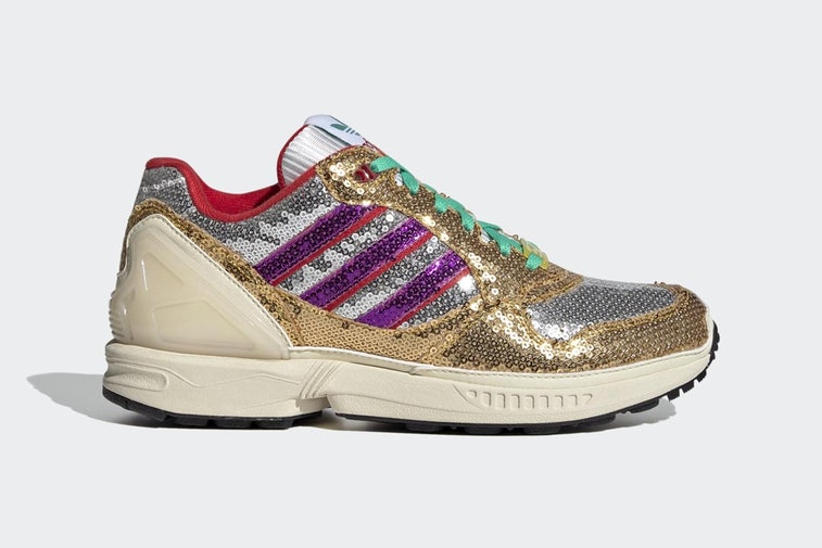 (Ugly) Sneaker covered in gold and silver sequins