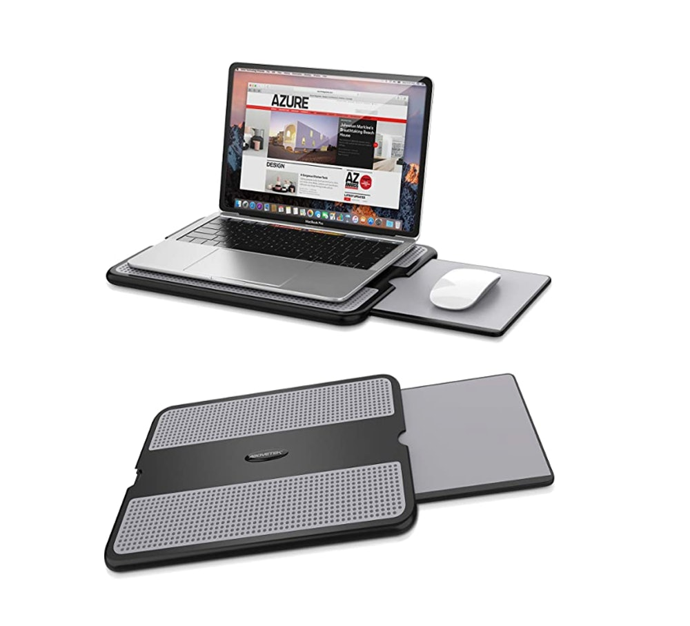AboveTEK Portable Laptop Lap Desk w/ Retractable Mouse Pad