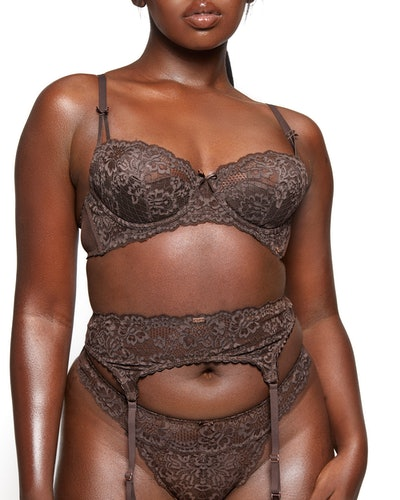 Nude Floral Lace Unlined Balconette Bra