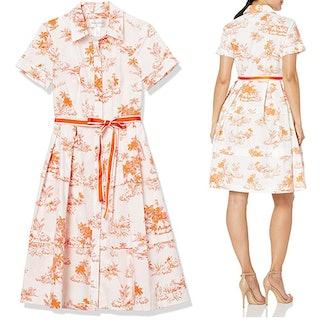 Donna Morgan Poplin Shirt Dress