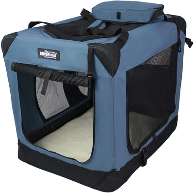 EliteField Medium Folding Soft Dog Crate, 24-Inch