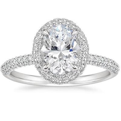 Valencia Halo Diamond Engagement Ring