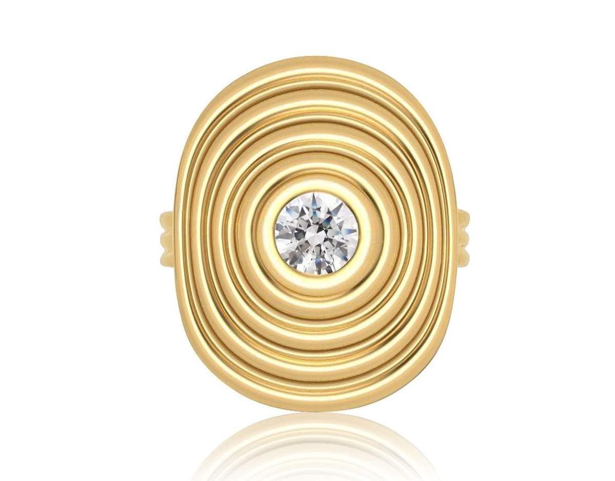 Sagesse Universum Ring With Center Diamond