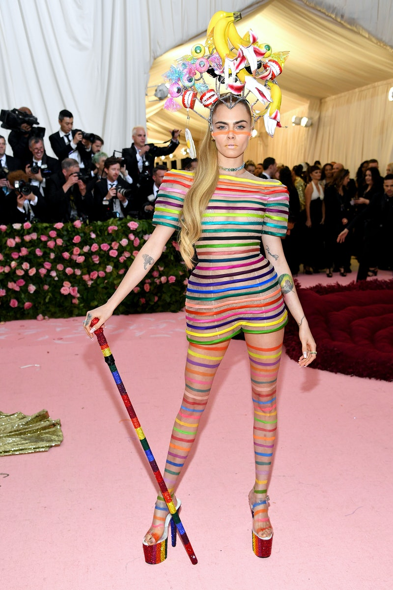 Cara Delevingne attends The 2019 Met Gala Celebrating Camp: Notes on Fashion at Metropolitan Museum of Art on May 6, 2019 in New York City.