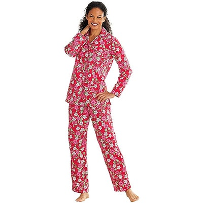 Carol Wright Gifts Floral Flannel Pajamas
