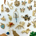 Vintage gold charms