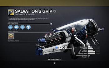 destiny 2 salvation's grip aspect of influence