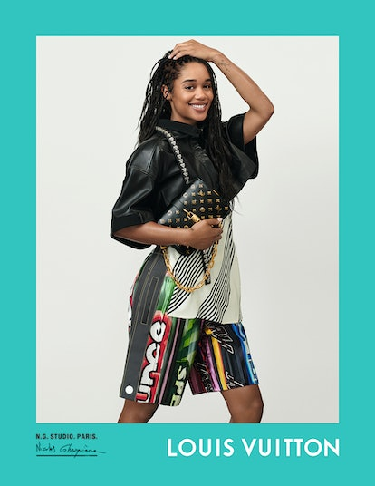 Laura Harrier stars in Louis Vuitton's spring/summer 2021 campaign.