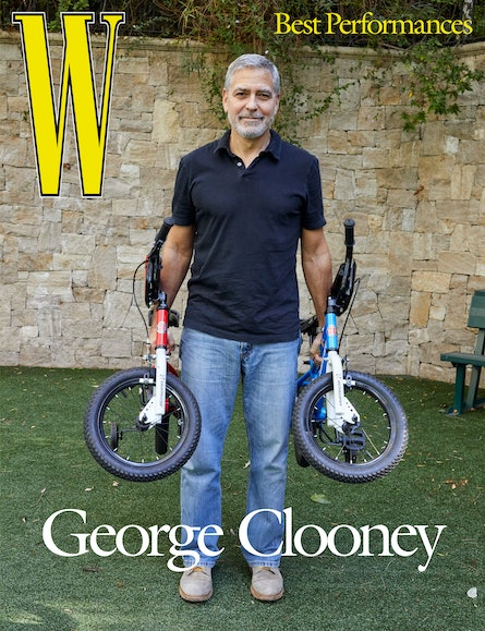 George Clooney wears his own clothing and accessories.