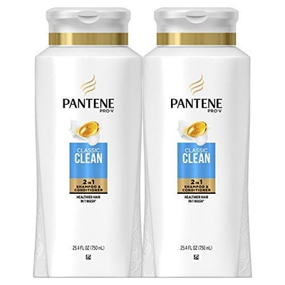 Pantene 2 in 1 Pro-V Classic Clean Shampoo and Conditioner (2-Pack)