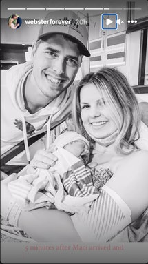 Alyssa Bates and husband, John Webster, welcomed their fourth child together this week.