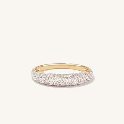 Pavé Diamond Thin Dôme Ring