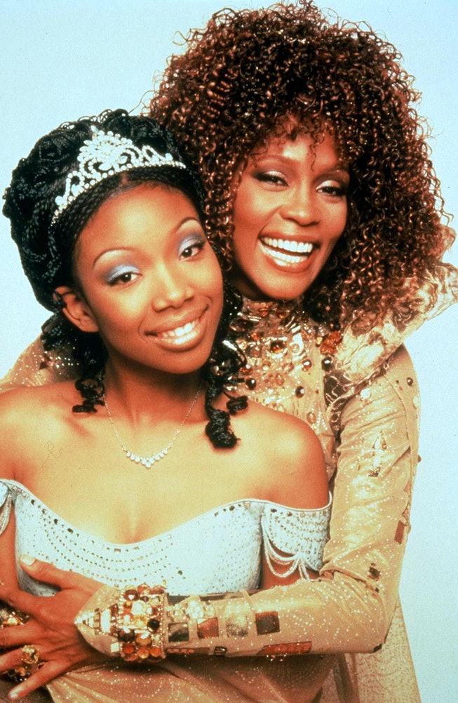 Brandy recalled choosing to wear braids for her role in 'Cinderella' opposite Whitney Houston.