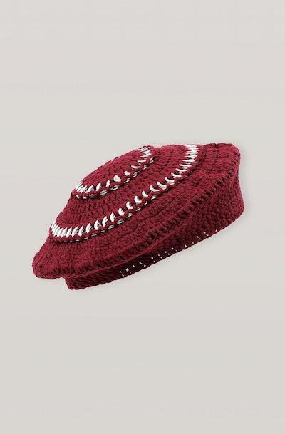 Cotton Knit Beret
