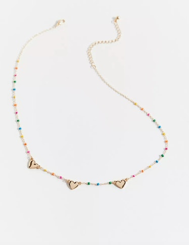 Ava Delicate Heart Charm Necklace