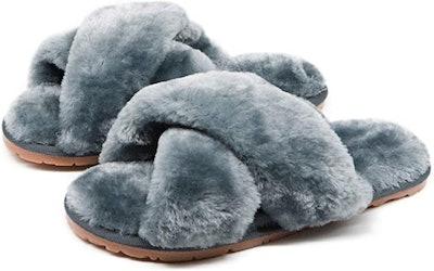 Crazy Lady Fuzzy Memory Foam Slippers