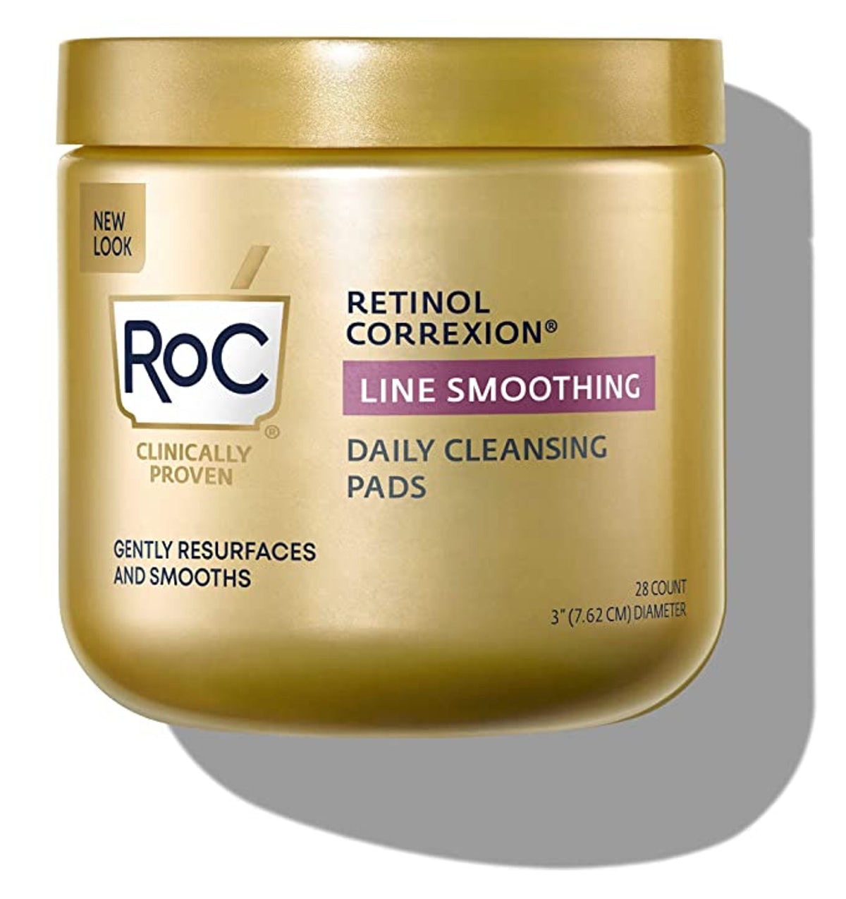 RoC Daily Resurfacing Disks, Hypoallergenic Exfoliating Makeup Removing Pads (28-Count)
