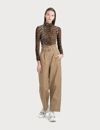 Ganni Chino Wide Leg Pants