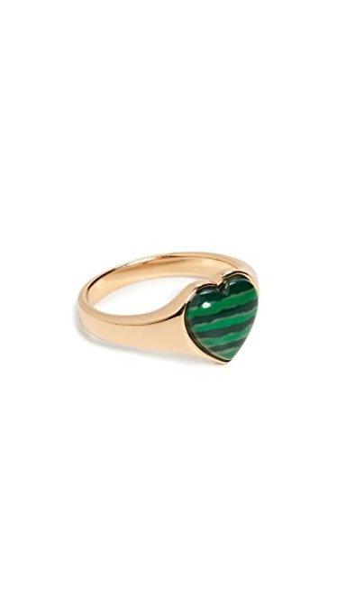 Shashi Verde Signet Ring