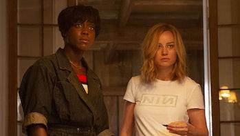 Lashana Lynch as Maria Rambeau and Brie Larson as Carol Danvers in Captain Marvel