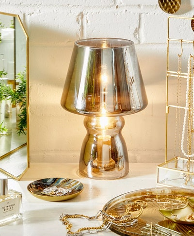 Classic Silver Glass Table Lamp