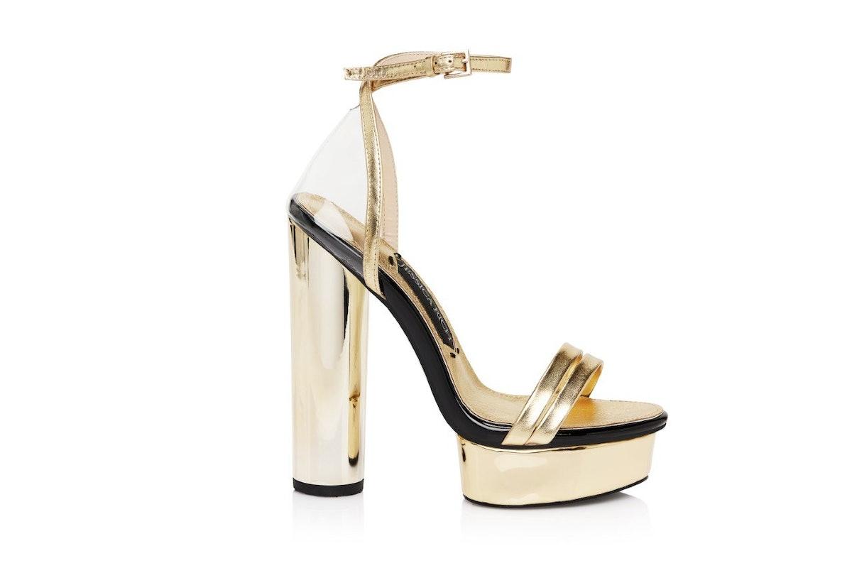 Gold Platform Sandal