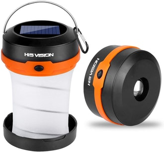 HISVISION Solar Powered LED Camping Lantern