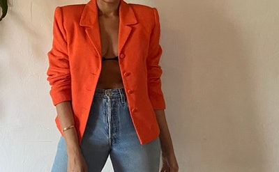 Tangerine Wool Blazer