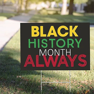 Black History Month Yard Sign