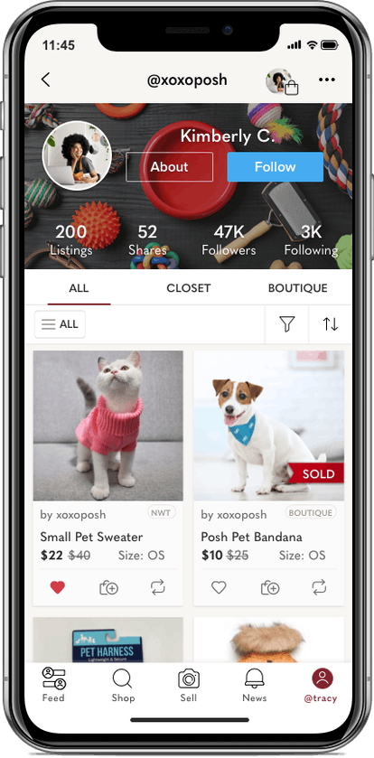 Poshmark launched a new category for pets.