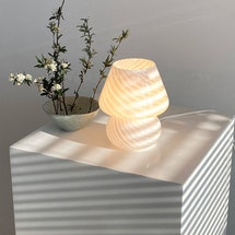 Mushroom Murano lamps are all the rage on Instagram right now.