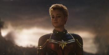 Brie Larson as Captain Marvel in Avengers: Endgame