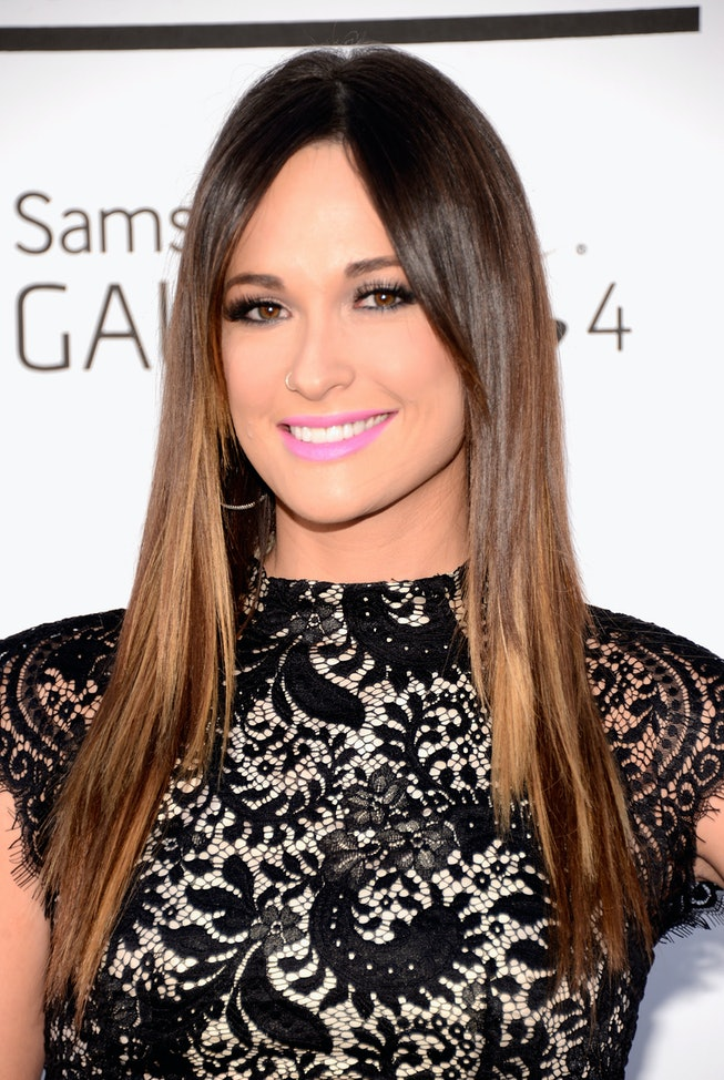 Kacey Musgraves with pink lipstick