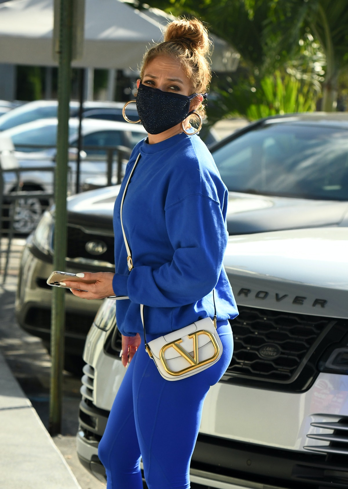 Jennifer Lopez is seen on December 23, 2020 in Miami, Florida.