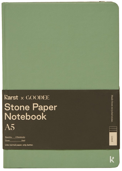 A5 Hardcover Notebook, set of 4 - Multi